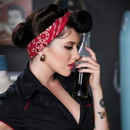 Pin Up Bandana Vintage Hair Accessories