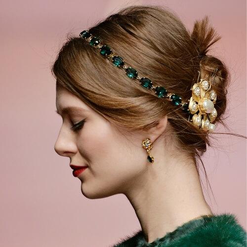 Thin Gemmed Headband Christmas Hair Accessories