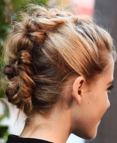 Braided Mohawk Party Hairstyles
