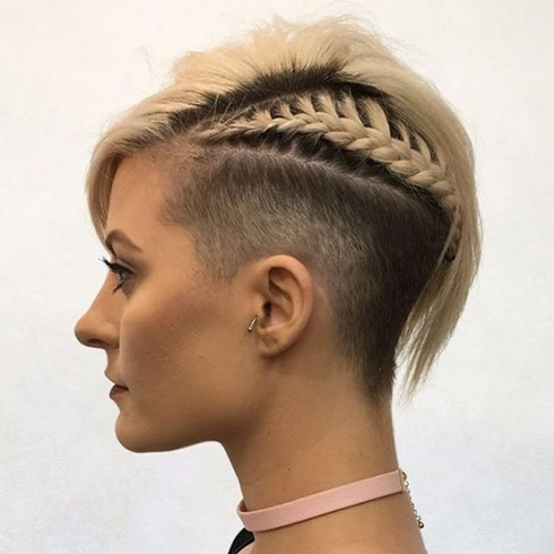 Half Braided Fade Haircut
