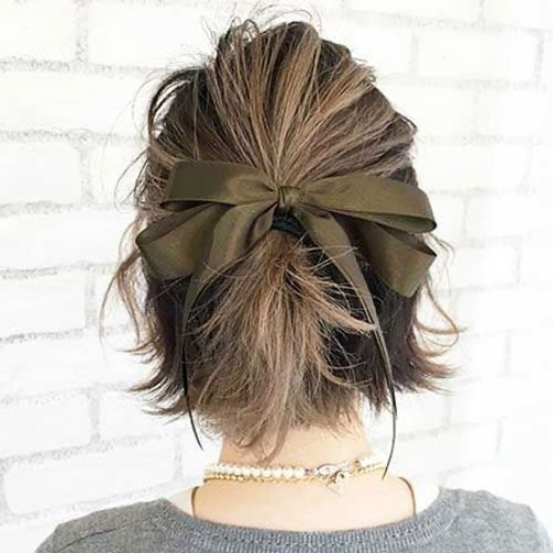 Half Up Ponytail with Hair Bow