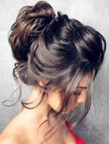 Messy Updo Party Hairstyles