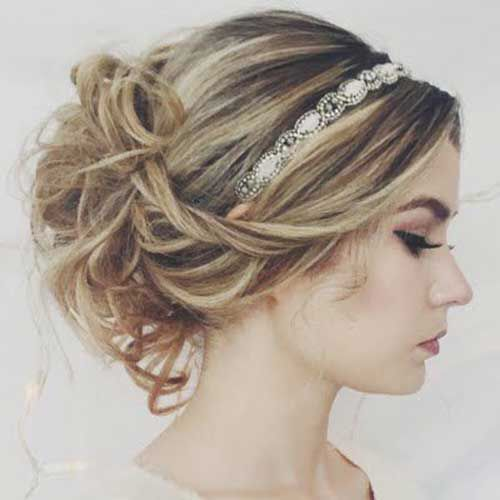 Messy Updo with Headband