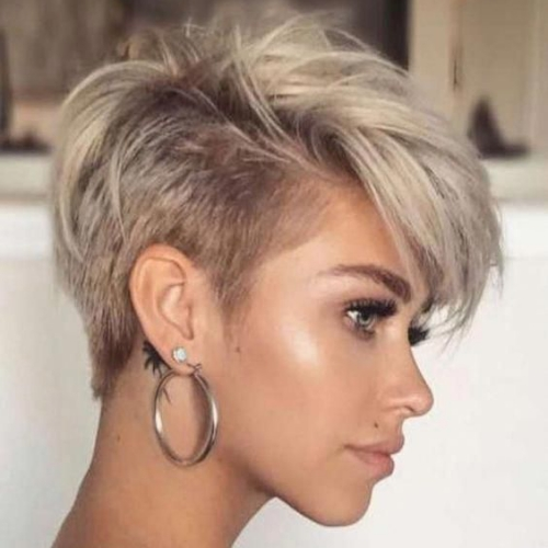 Pixie Haircut with Faded Sides