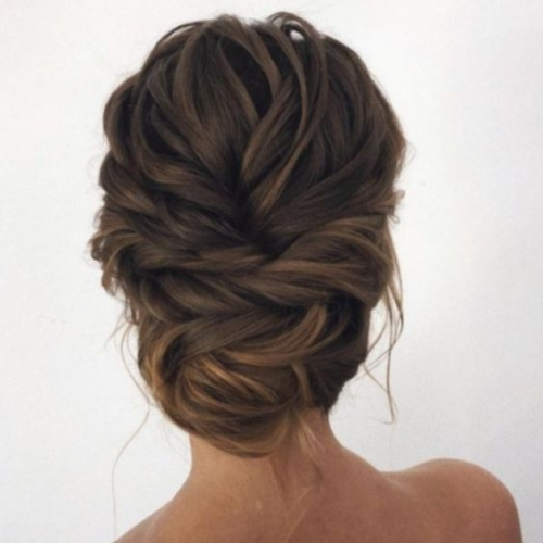 Simple Elegant Twisted Updo for Long Hair