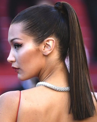 Sleek Straight High Ponytail