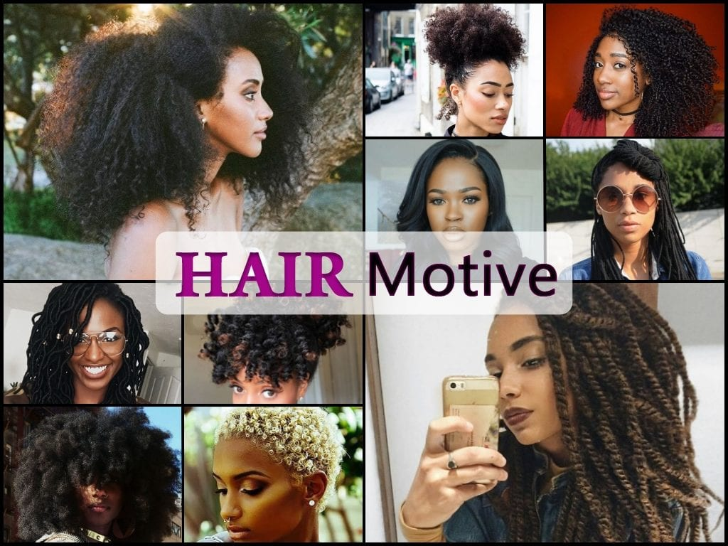 black hairstyles collage