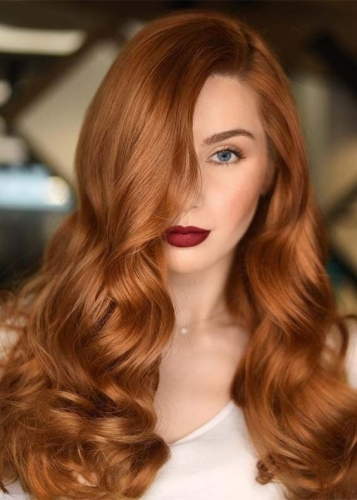 copper red hair colors for winter