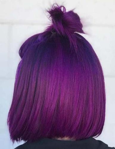 dark purple winter hair colors