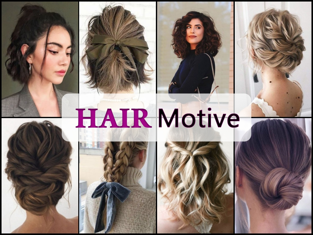 party hairstyles collage