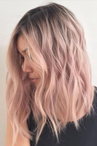 pastel pink winter hair colors