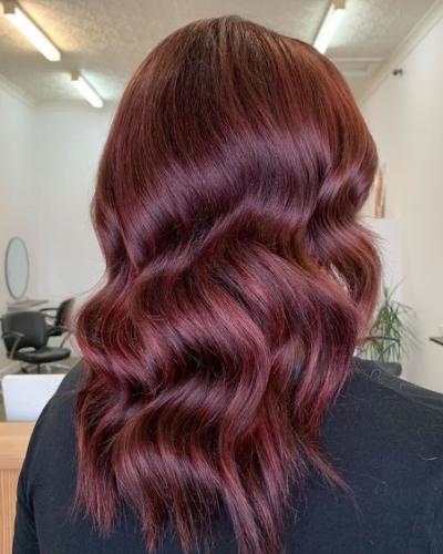 shiraz red winter hair colors