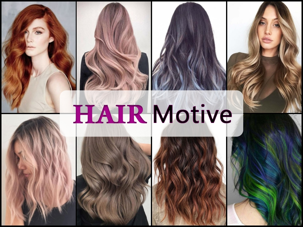 winter hair colors collage